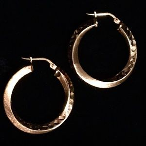 Rose Gold QVC Veronese Earrings 18k over Sterling